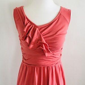 🎉HP Loft Pink Orange Dress Casual Dressy XS
